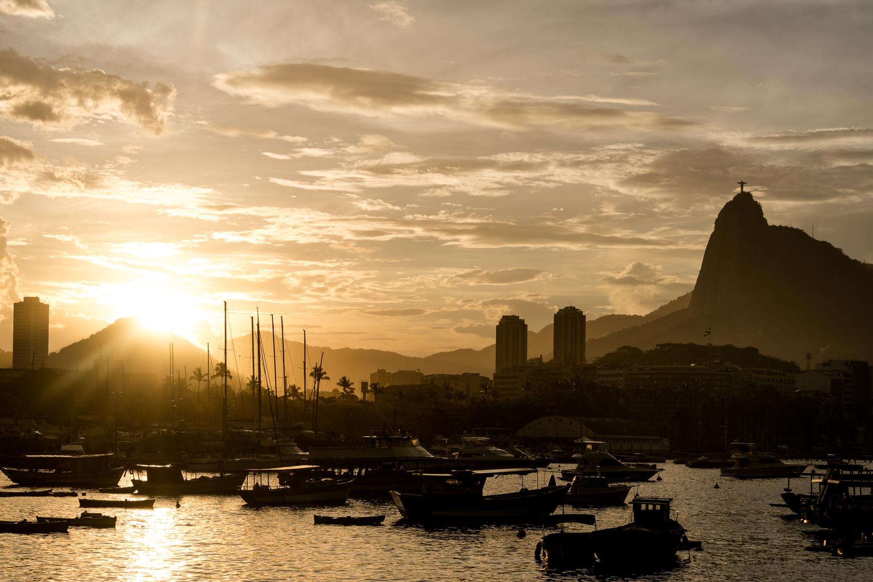 Christian Meixner Fotografie, Rio de Janeiro, Brasilien, Fotograf Zürich, Sonnenuntergang, Hafen, Christus, Reisen, Reisefotografie